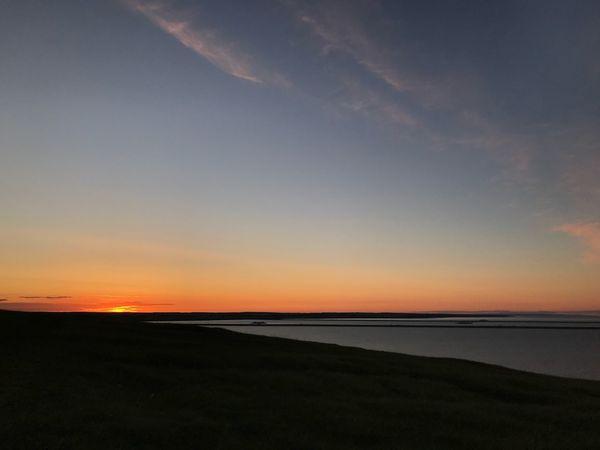 Sky Scenics - Nature Tranquility Water Tranquil Scene Beauty In Nature Sunset Land Horizon Beach Idyllic