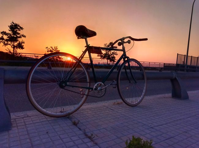 Bicycle Sunset Outdoors Silhouette No People Vintage Bike Smartphonephotography Vintage Bicycles SingleSpeed Bike Mallorcaphotographer Singlespeed Smartphone Photographer Mallorca Binissalem Vintage