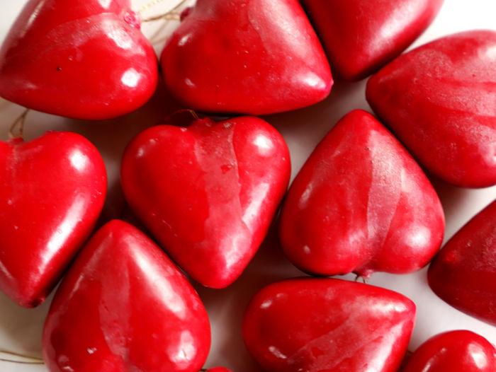 Red hearts the