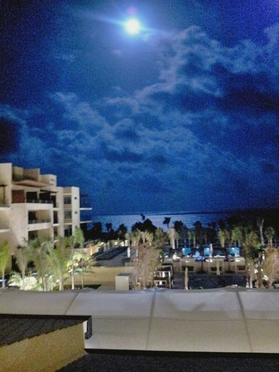 First full moon in paradise. Had to be here. Happy 2015 everyone. Hydeaway Royalton Riviera Cancun Cancunroyalton Full Moon Hello World