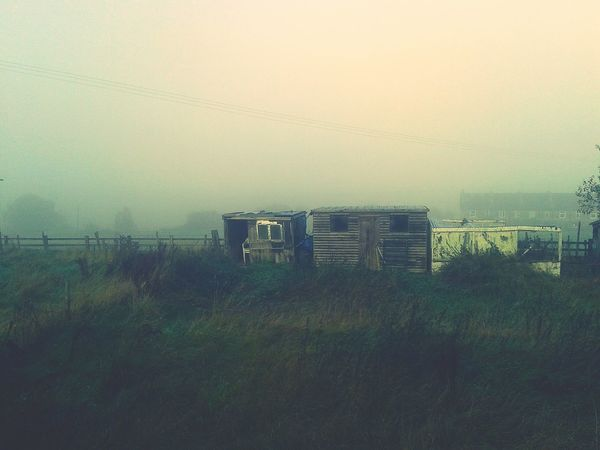 Misty Morning Eyem Misty Day Misty Foggymorning Foggy Morning Hello World Fallbeauty Autumnbeauty Colors Of Autumn Village Sheds Old Shed Allotments Countryside Eyemphotography Fields And Sky Valley Fieldscape Farmland Villagelife