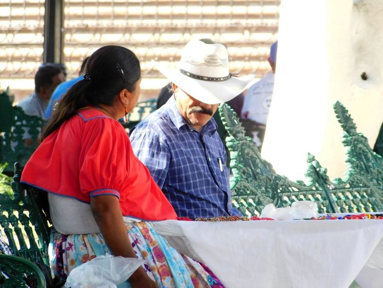 Two People Adults Only Women Adult Togetherness Outdoors Men Day People Only Women Human Body Part Mexico Traditional Colorful This Is México Guerrero, México Huichol 2017 The Street Photographer - 2017 EyeEm Awards