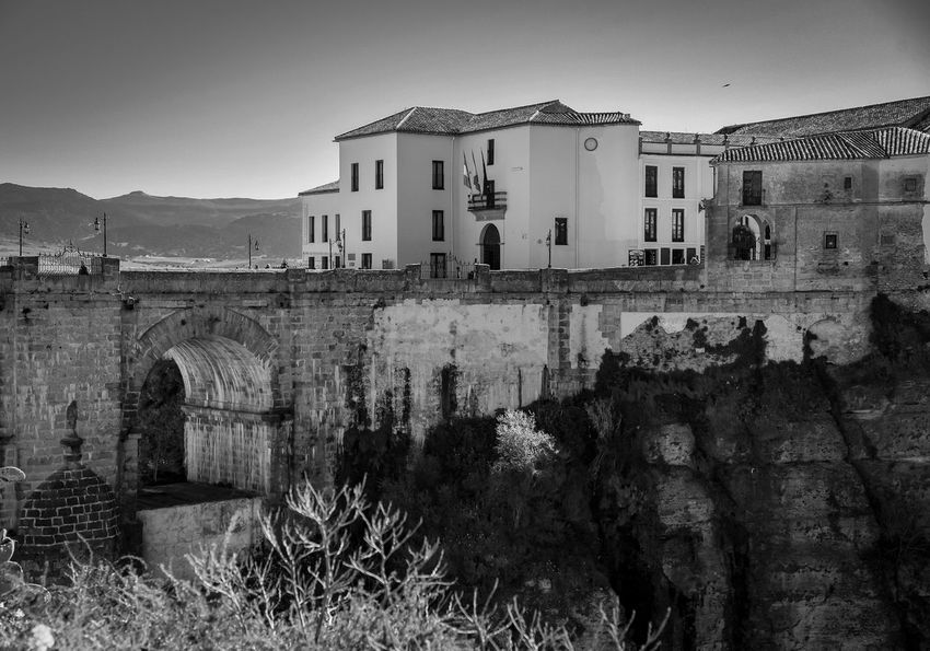 Ronda Málaga Andalucia Spain EyeEm Selects #nature_collection #EyeEmNaturelover #nature Bnw_friday_eyeemchallenge #bnw_ignafotos Arquitecturas Arquitecture EyeNemBlackandWhite Eyeemphotography Blackandwhite EyeEm Gallery #ignafotos Nature Medieval Architecture Bnw_collection History Eye4photography  Photography Bnw Planet Prison Window Sky Architecture Building Exterior Built Structure