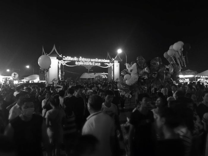 B&w Street Photography Boatracing Music Festival Buddist Lent Crowded People Street Walkingaround