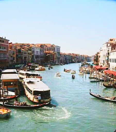 Fall in love...❤ in venice City Of Venice Travel Destinations Vacations Gondola - Traditional Boat Italy 🇮🇹
