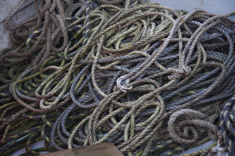 Rope Recycling! Beach Old Boat Sea Side Still Life Composition Close-up