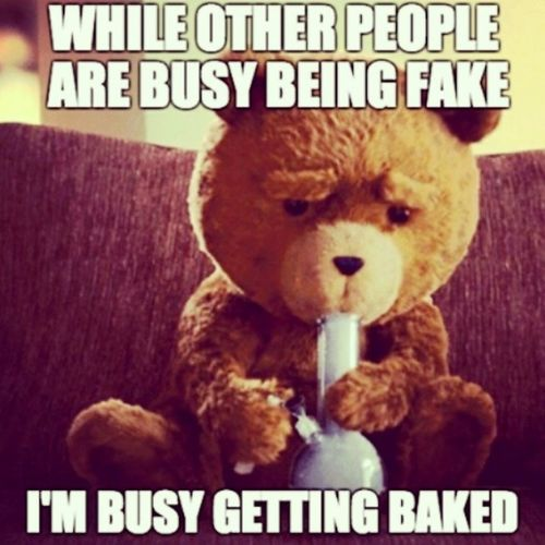 Lmao. Baked Ted Bong GettingBaked WhileYoureBeingFake