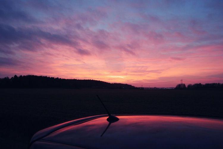 Such a lovely autumn sunset 🌞 Sunset Sky Swedish Autumn Night Sky Sunshine Nature Photography