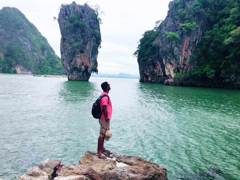James Bond Island Krabi Thailand Phuket Rock - Object Rock Formation Nature Real People Water Sea Beauty In Nature