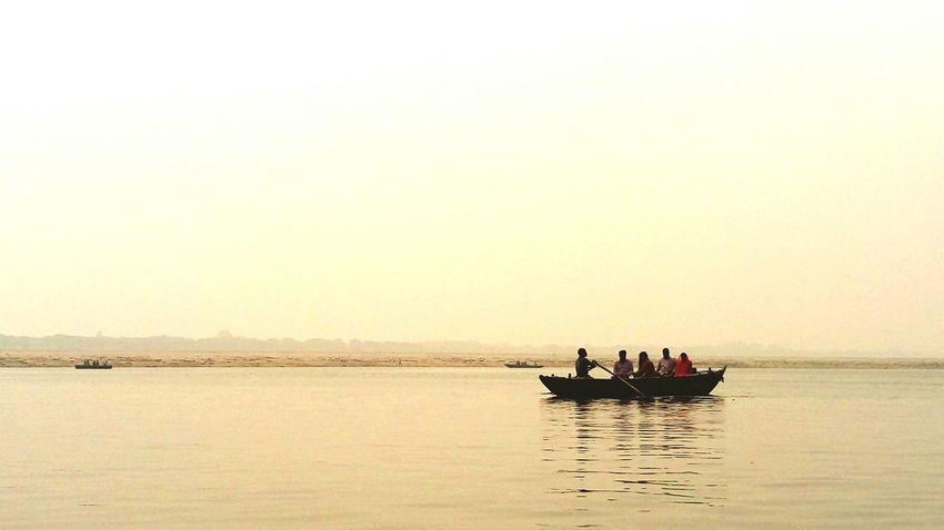 Boat Ride Ganges River EyeEm Best Shots Eyeem Best Photo Best Photos Best Photos Of Boat Sea Ganga Ganga River Ganga Ghat People Water Taking Photos