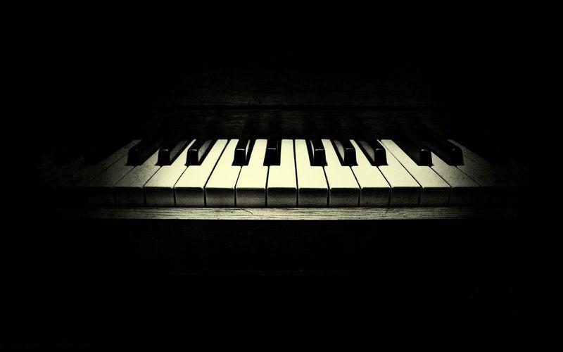 Piano In The Dark Musical Instrument Close-up Piano Key Music Piano