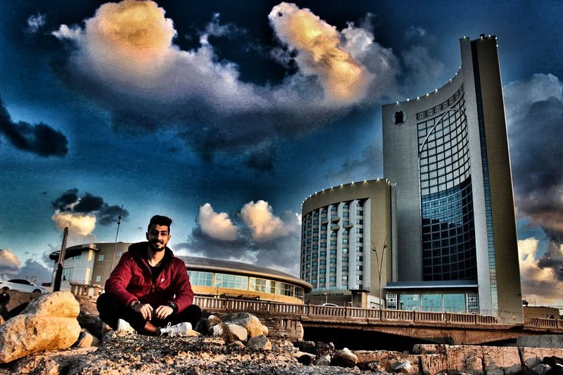 That's Me Clouds Enjoying Life Taking Photos Photooftheday Canon Tripoli Libya Fachion Libyan Time Outgoing Tower Hello World