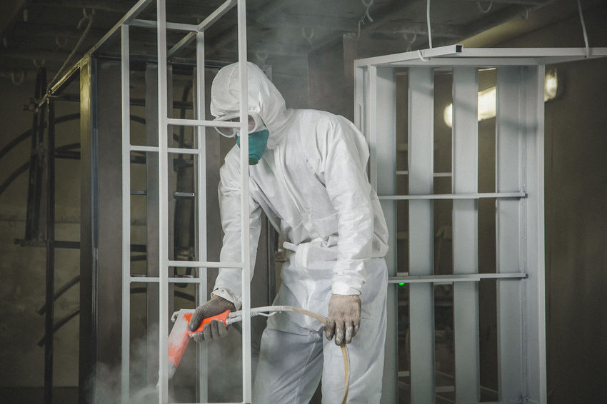 Paint work Adult Adults Only Crime Hygiene Indoors  Men Mid Adult Men One Man Only One Person Only Men Paint Wor Paint Work People Protection Protective Glove Protective Workwear Science Window Women Working