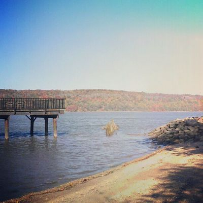 I don't even need to leave Inwood to visit the beach Instagramuptown Uptown Washingtonheights beach piers dyckman marina newjersey newyorkcity made_in_ny