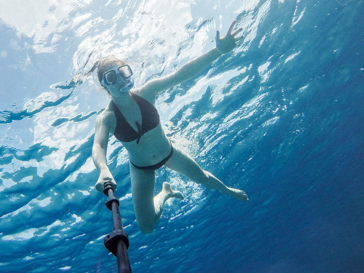 Adult Adults Only Adventure Beauty In Nature Day Full Length Leisure Activity Nature One Person Outdoors People Real People Scuba Diving Sea Snorkeling Sunlight Swimming Swimming Pool UnderSea Underwater Vacations Water Weekend Activities Young Adult