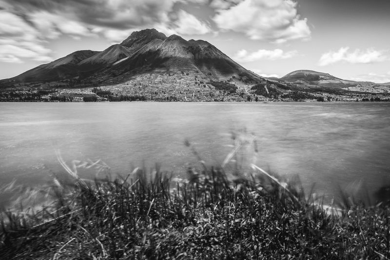 Andes Imbabura Relaxing San Pablo Beauty In Nature Cloud - Sky Day Grass Lago San Pablo Lake Landscape Long Exposure Mountain Mountain Range Nature No People Outdoors Scenics Sky Taita Tourism Tranquil Scene Tranquility Travel Destinations Water