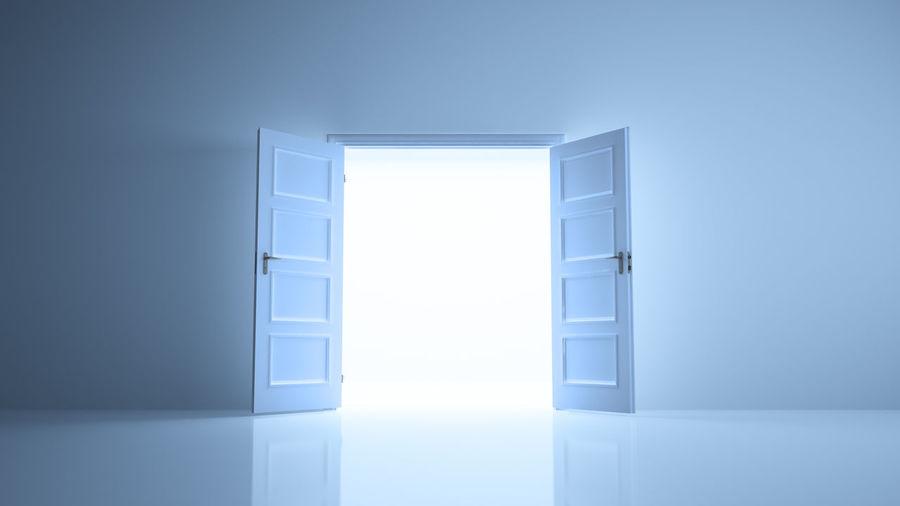 Open door of home