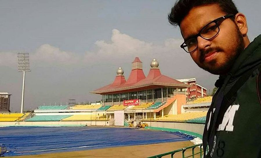 At dharamshala cricket ground Short tour of @punjab and @himacha Himachaldiries Dharamshala IndianCricket Stadium Snowmountains Awesome Selfie Happiness Travellers_life Explore