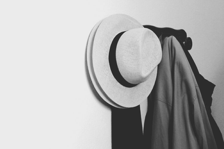 Simplicity Hanging On The Wall Hat Blackandwhite Photography Blackandwhite Monocromatic TheWeekOnEyeEM