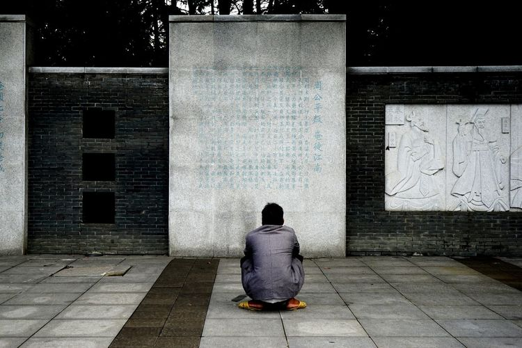 People One Person Human Back City Prison China View Historical Place Historical The Human Condition Rethink Things