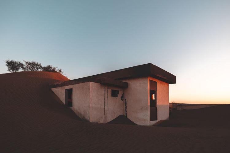 Abandoned house in desert