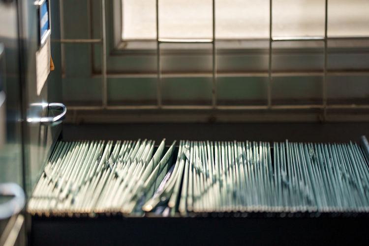 Close-up of window sill