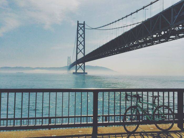 Kobe Bridge Sea Cycling Japan