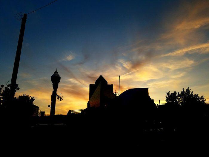 Taken in downtown Roanoke Va Sunset City Meusem Clouds