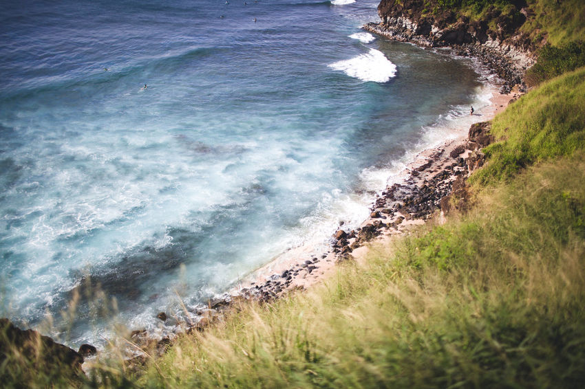 Wanderlust Beach Beauty In Nature Day Force Grass Motion Nature No People Ocean Outdoor Photography Outdoors Power In Nature Scenics Sea Water Wave Waves