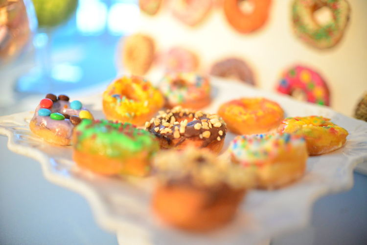 EyeEm Best Shots Eye4photography  Getting Inspired Donuts Sweet Sweet Food Colors Indoors  Food Food And Drink No People Still Life Temptation Selective Focus Multi Colored Ready-to-eat Close-up Dessert Baked Unhealthy Eating Snack Springtime Decadence The Foodie - 2019 EyeEm Awards