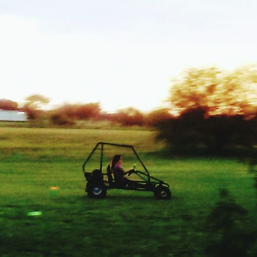 Outdoors One Person Driving Go Karts Day Grass Nature Sky Tree The Purist (no Edit, No Filter) EyeEm Best Shots Cheerful