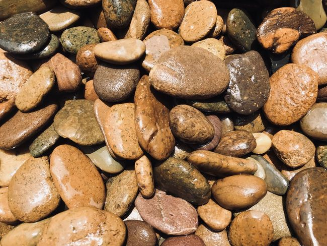 Backgrounds Brown Close-up Day Food Full Frame Full Frame Shot Large Group Of Objects Nature No People Outdoors Pebble Pebble Beach Rocks Wet