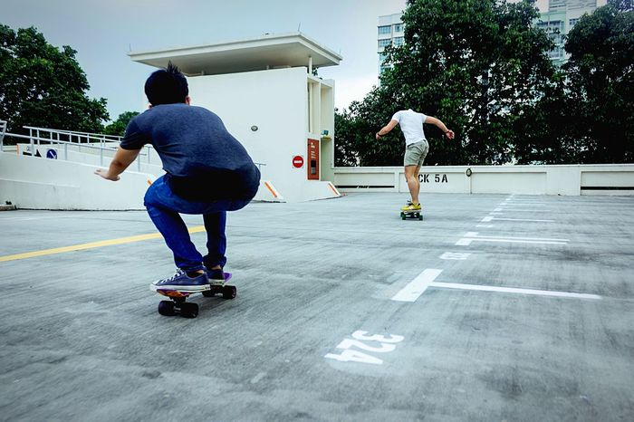 Cruise on rooftops because why not On The Move Open Edit Skateboarding Longboarding Street Vibes People Photography EyeEm Best Shots Shootermag Streetphotography Cruising