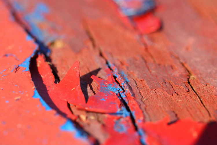 Blue Close-up Day Fisherman No People Old Outdoors Paint Red Vassel Wood - Material