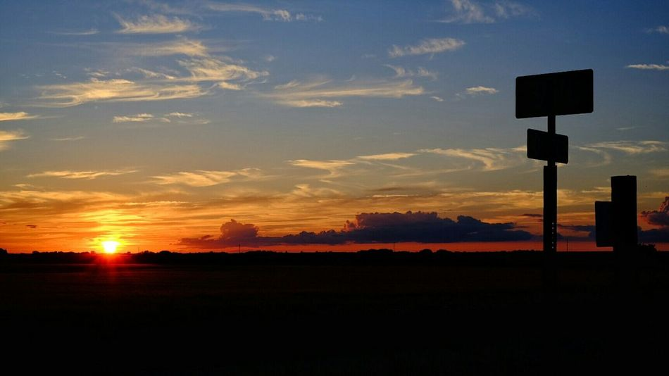 Sunset MidWest Kansas Rural America Farmland Color Photography Polarizing Filter Fuji X-T1 On The Road Taking Photos
