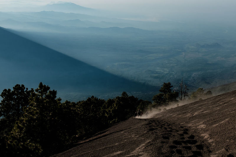 Acatenango Adventure Beautiful Central America Downhill Fujifilm Fujifilm_xseries Geology Gravel Guatemala Haze Hiker Hiking Mountain Nature Nature_collection Outdoors Running Serenity Steep Sunrise Traveling Trekking View Volcano
