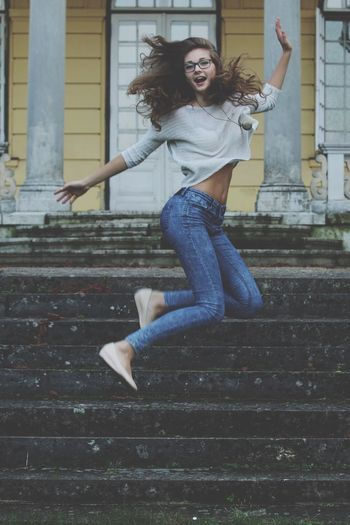Crazy Girl Jump Funny