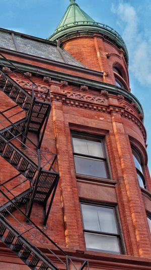 Architecture Built Structure Building Exterior Low Angle View No People Day Outdoors City Sky Exterior Toronto Red Brick Red Brick Stairs
