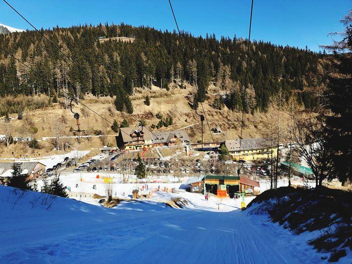 Ski-lift in the