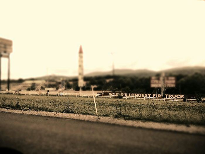 Road Trip Tennessee Interstate View Road Side Fireworks Stand Abandoned Photo Editor Pro