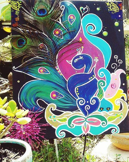 Cover My World In Paint Art Is Life Handmade Doghairstudio Gypsy Girl ArtWork Mixed-medium