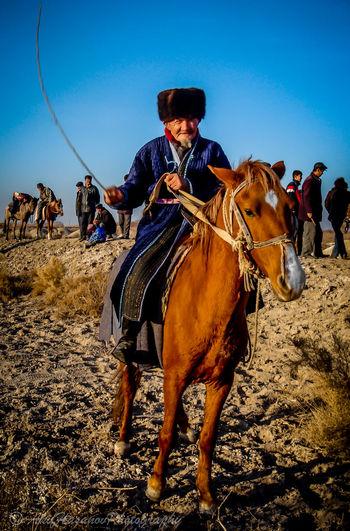 Adult Central Asia Cowboy Cowboy Hat Elder Cowboy Horse Horseback Riding Karakalpak Cowboy Men Outdoors The Portraitist - 2017 EyeEm Awards The Photojournalist - 2017 EyeEm Awards The Portraitist - 2017 EyeEm Awards