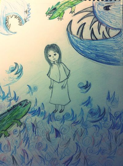 Drowning Art Spiky petulant