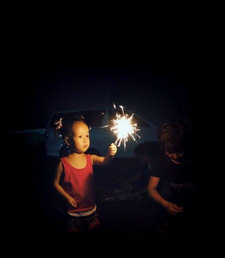 Nina and fireworks.