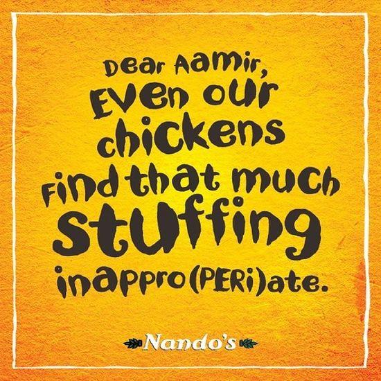 Best marketeers. @NandosPakistan Nandos Peri Chicken