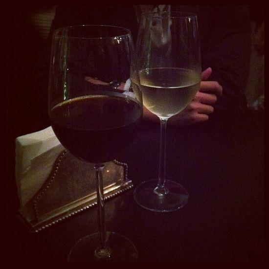 Iced drip coffee in a wine glass VS a glass of white wine LOL @armuel @dakdak1228