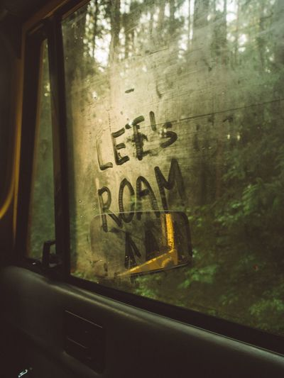 Window Glass - Material Transparent Text Vehicle Interior Looking Through Window Transportation Car Reflection Car Interior Windshield Mode Of Transport Tree Land Vehicle Day No People Close-up Indoors  Communication Nature