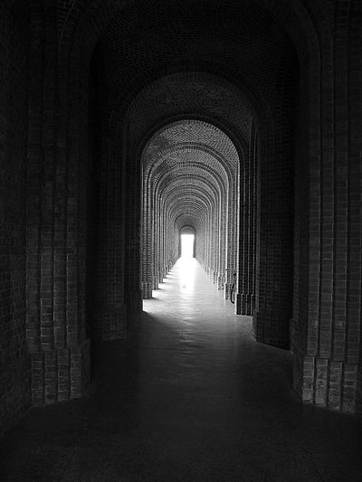 India To The Future Arch Architecture Built Structure Day Indoors  Light At The End Of The Tunnel No People The Way Forward Travel Destinations Tunnel Black And White Friday Visual Creativity The Architect - 2018 EyeEm Awards A New Beginning