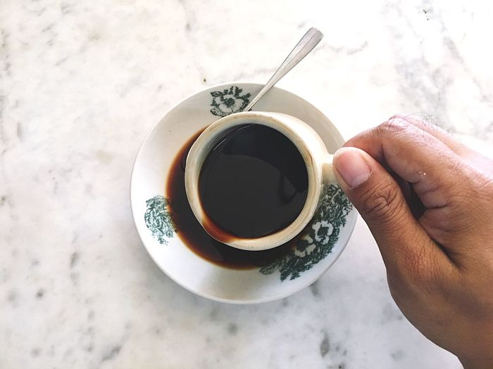 Coffee morning Human Hand Hand Human Body Part Drink One Person Holding Cup Hot Drink Directly Above High Angle View Personal Perspective Body Part Mug Lifestyles Coffee - Drink Coffee Food And Drink Unrecognizable Person Refreshment Real People