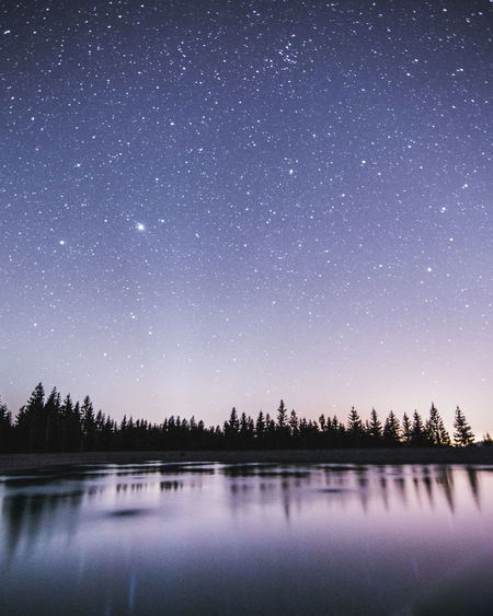 Astronomy Beauty In Nature Clear Sky Galaxy Lake Milky Way Nature Night No People Outdoors Reflection Scenics Sky Space Star - Space Star Field Starry Tranquility Tree Water First Eyeem Photo